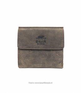 Bear Design Billfold-Druckknopf - HD9521 Braun