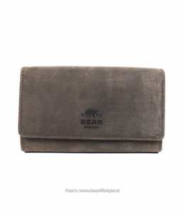 Bear Design Damenbrieftasche mit Clip - HD9925 Braun