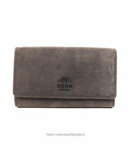 Bear Design Dames portemonnee met knip - HD9925 Bruin