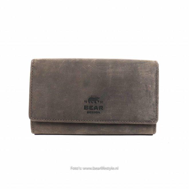 Damenbrieftasche mit Clip - HD9925 Braun