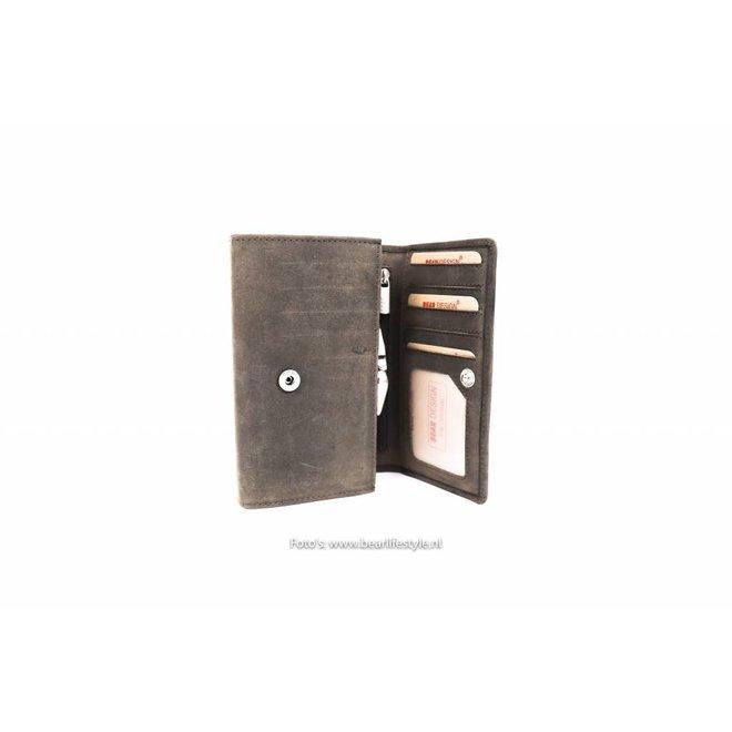 Dames portemonnee met knip - HD 9925 Bruin