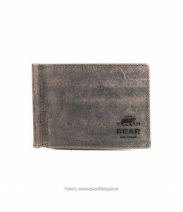 Bear Design Brieftasche mit Geldscheinklammer - HD9844 Braun