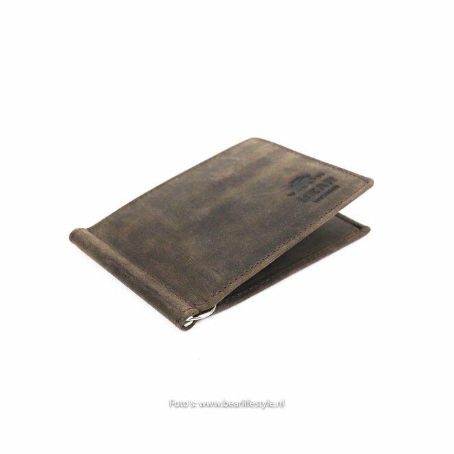 Brieftasche mit Geldscheinklammer - HD9844 Braun