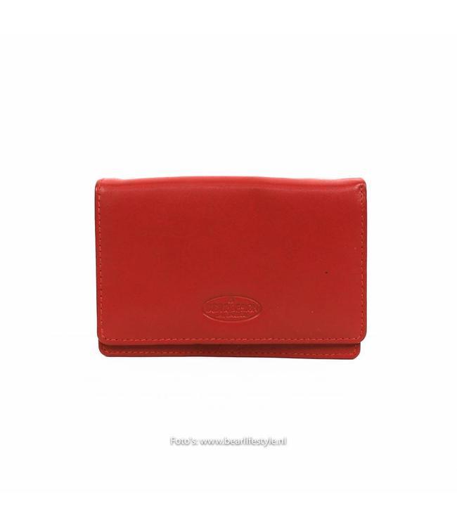 Bear Design Kleine Damesportemonnee - Rood FR2080
