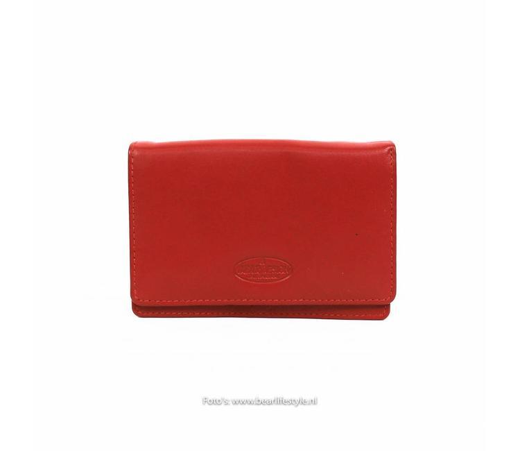 33d594732214e Bear Design Kleine Damesportemonnee - FR2080 Rood - BEAR Lifestyle