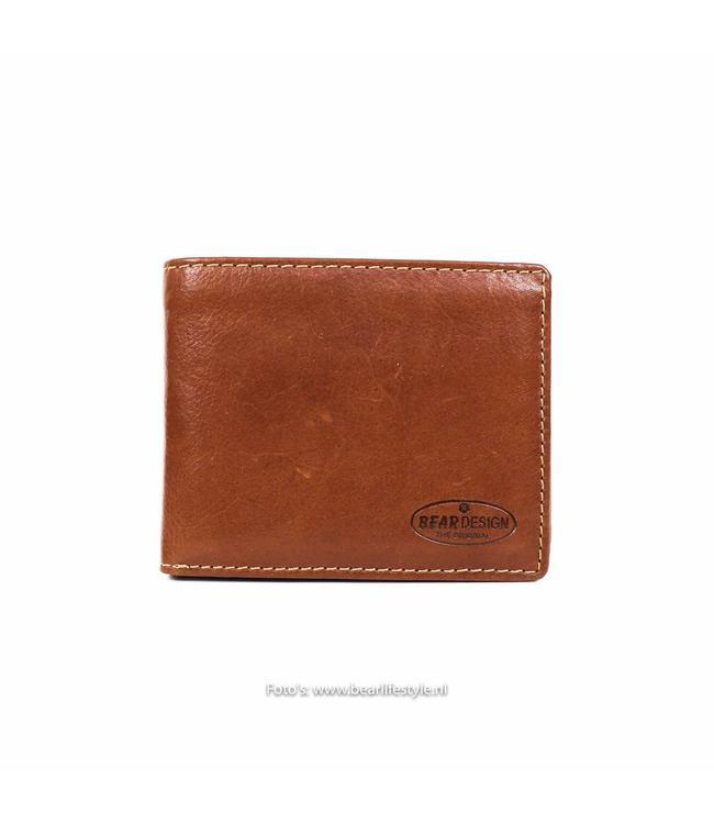 Bear Design Kleine Billfold - Cognac RO9596 Klein