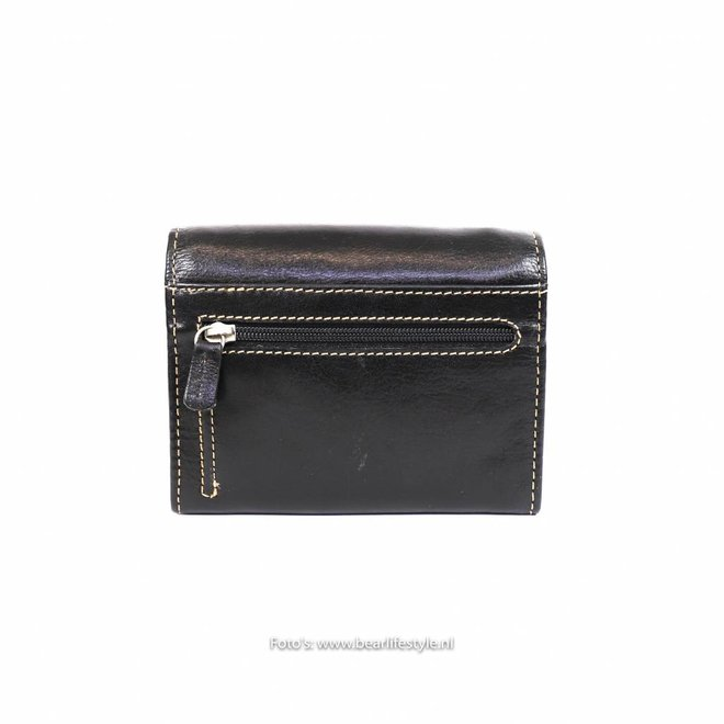 Dames klep portemonnee - Zwart  RO7580