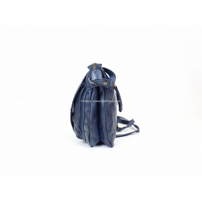 Klein rits tasje 'Maud' - CL 36262 Blauw