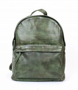 Bear Design Rugzak Leder - Groen CL 36501