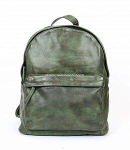 Bear Design Rugzak Leder 'Vince' - Groen CL 36501