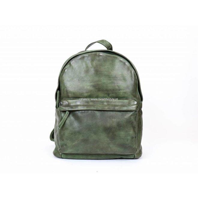 Rugzak Leder 'Vince' - Groen CL 36501