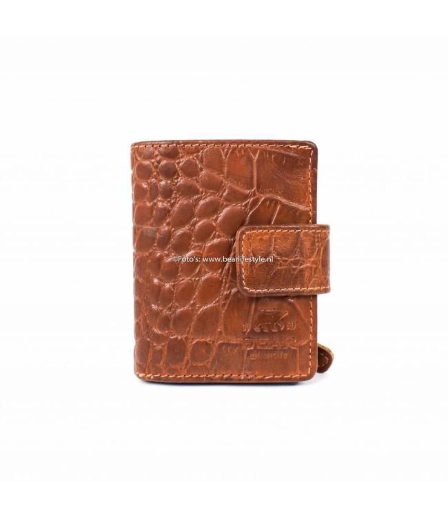 Bear Design CR15254 RFID Wallet met Ritsvak - Cognac Croco