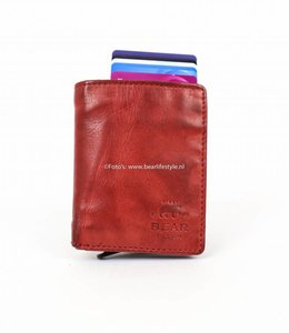 Bear Design Small Wallet - RFID CL15635 Rood