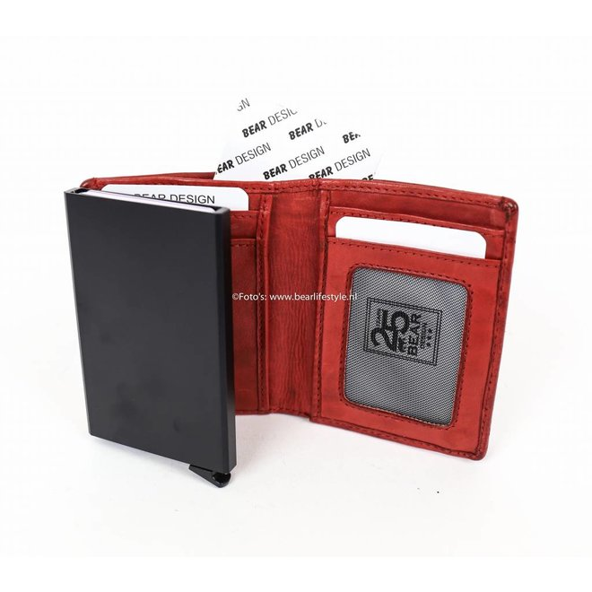 Small Wallet - RFID CL15635 Rood