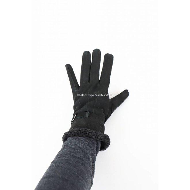Leren Handschoen Dames Chique Zwart