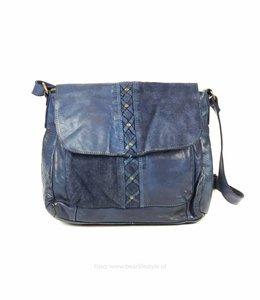 Bear Design Schoudertasje Suede/Lavato - CL35250 Blauw