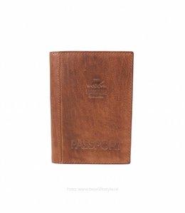Bear Design Paspoort hoesje leer - Cognac