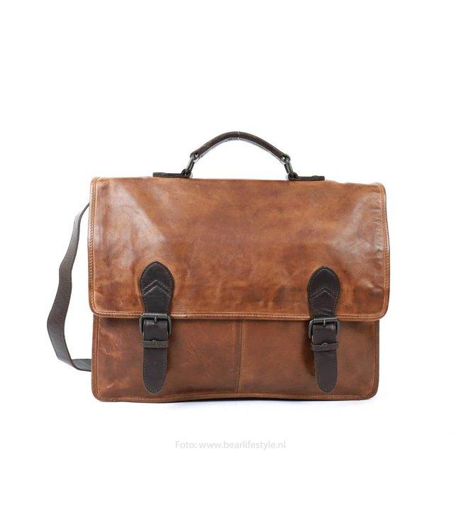 b42237d049e Bear Design Werk-/Laptoptas met Gesp Cognac/Bruin CL32844 Shoppen ...