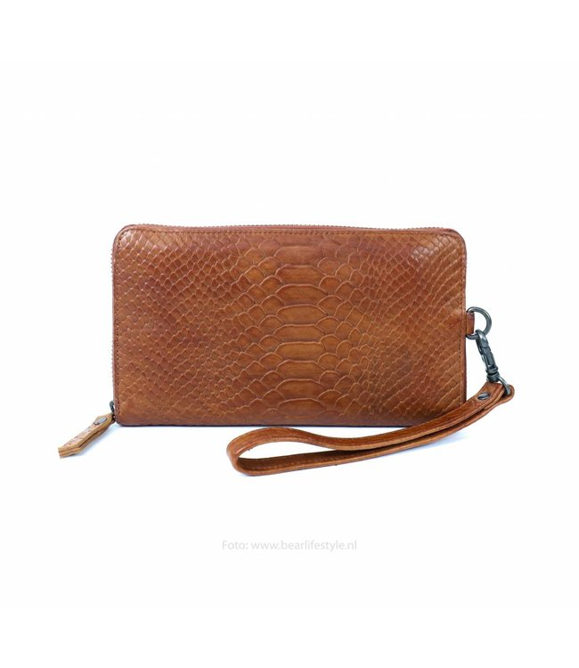 Bear Design Ritsportemonnee Phyton 6943 - Cognac