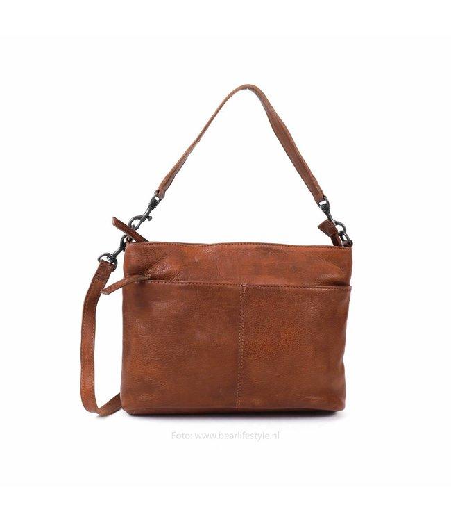 ae5a1d9467253 Bear Design Schulter-   Handtasche  Angelica  - Cognac CP1536 - BEAR ...