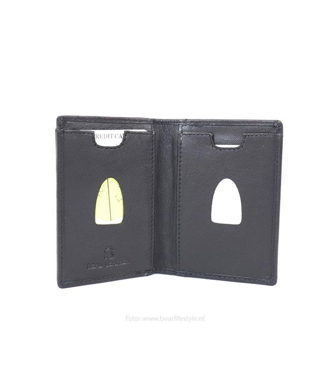 Bear Design Pasjeshouder portemonnee TU17 - Zwart