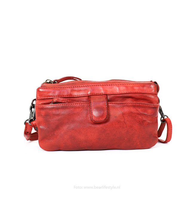 Bear Design Schoudertasje 'Sofia' CL36696 Plain - Rood