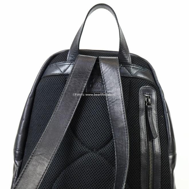 Rugzak Leder 'Vince' - Zwart CL 36501