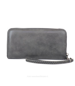 Vegan leather Ritsportemonnee VL2020 - Zwart