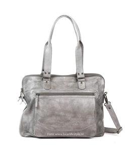 Bear Design Handtasche 'Lia' Doppelreißverschluss - CL35220 Stahl
