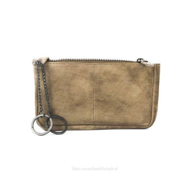 Sleutel/losgeld portemonnee CP7090 - Taupe