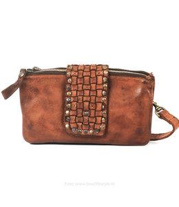 Bear Design Clutch / Bag Doppelreißverschluss - GR6459 Cognac