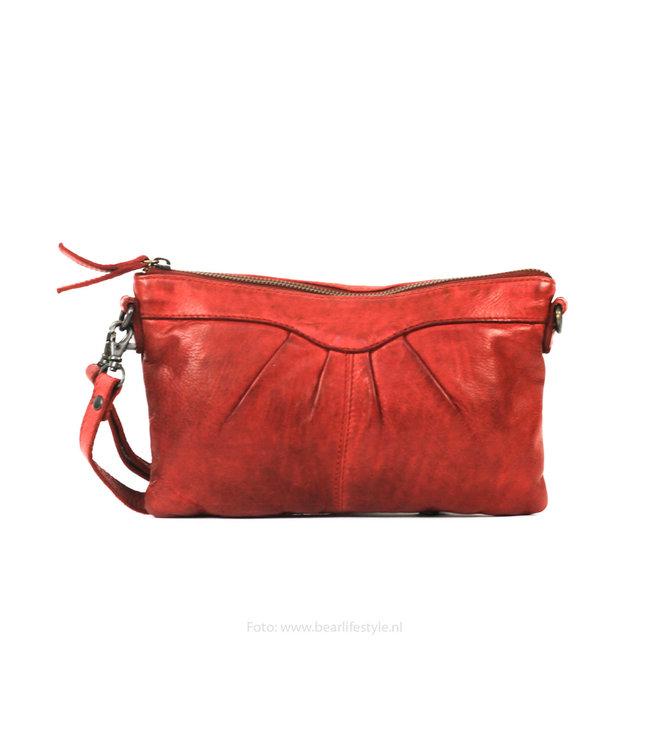 Bear Design Clutch/schoudertasje 'Jessy' CL36593 - Rood