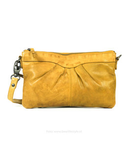 Bear Design Clutch/schoudertasje 'Jessy' CL36593 - Oker Geel