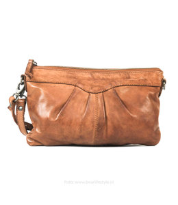 Bear Design Clutch/schoudertasje 'Jessy' CL36593 - Cognac