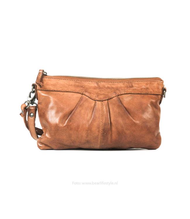 Bear Design Clutch/schoudertasje 'Jessy' CL36593 - Cognac