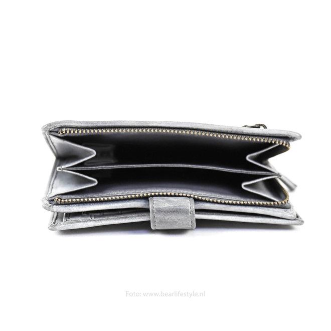 Dames portemonnee 'Studs' - Steel CL 15087