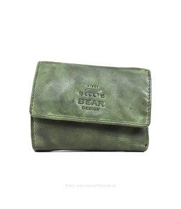 Bear Design Klein Lederwaren/Portemonnee - Groen CL14618
