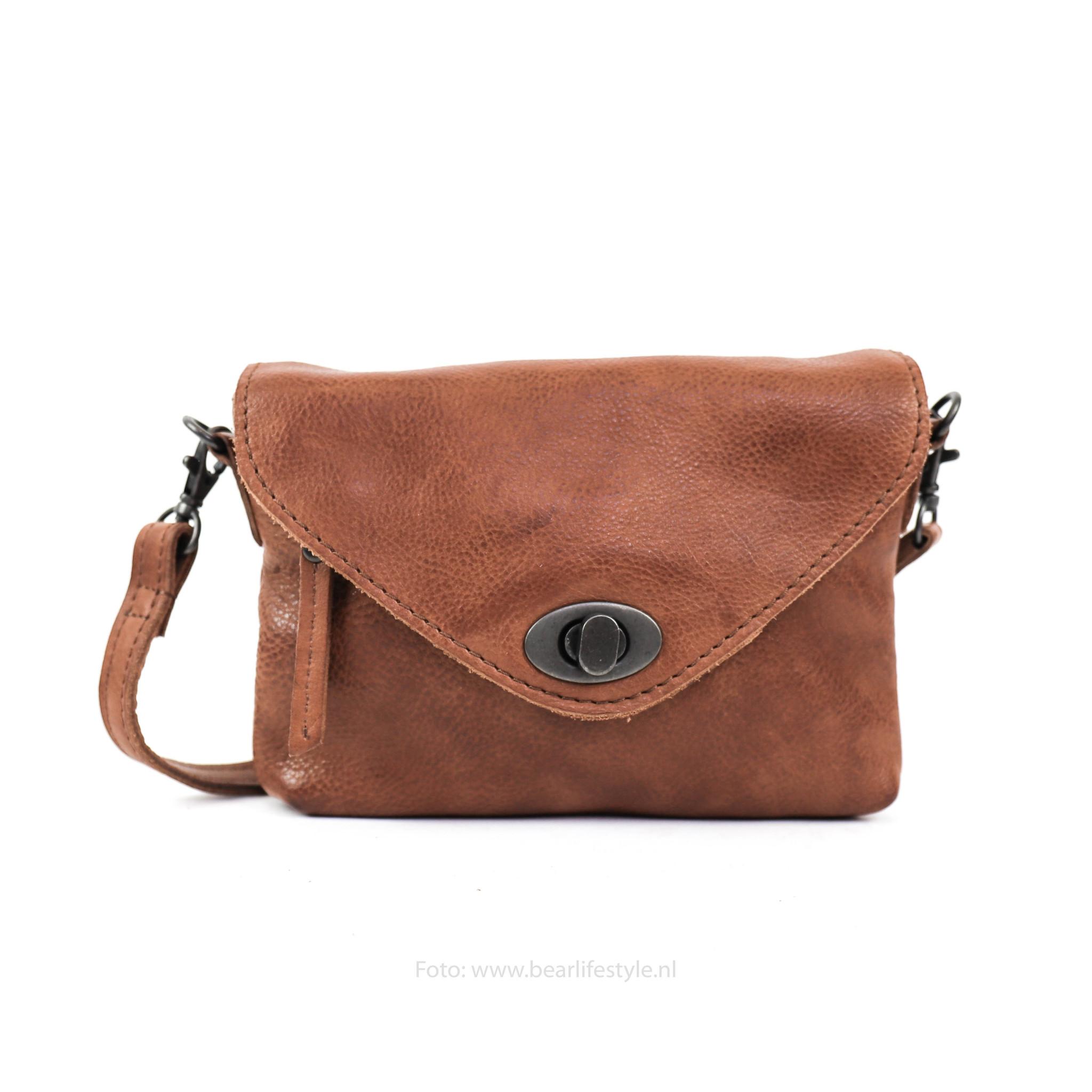 Online-Verkauf Verkaufsförderung letzte Veröffentlichung Bear Design Kleine Tasche 'Amber' CP 1676 Cognac