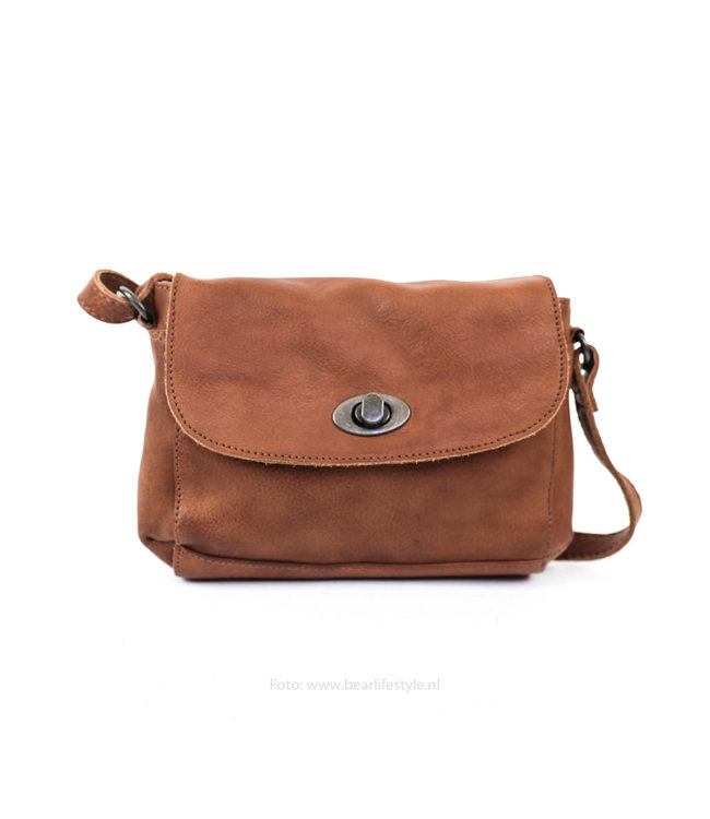 Bear Design Kleine Tasche 'Candice' CP 1687 Cognac