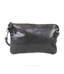 Bear Design Clutch/Schoudertasje 'Dori' - CL 36222 Zwart