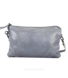 Bear Design Clutch/Schoudertasje 'Dori' - CL 36222 Steel