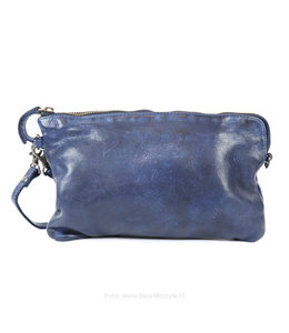 Bear Design Clutch/Schoudertasje 'Dori' - CL 36222 Blauw