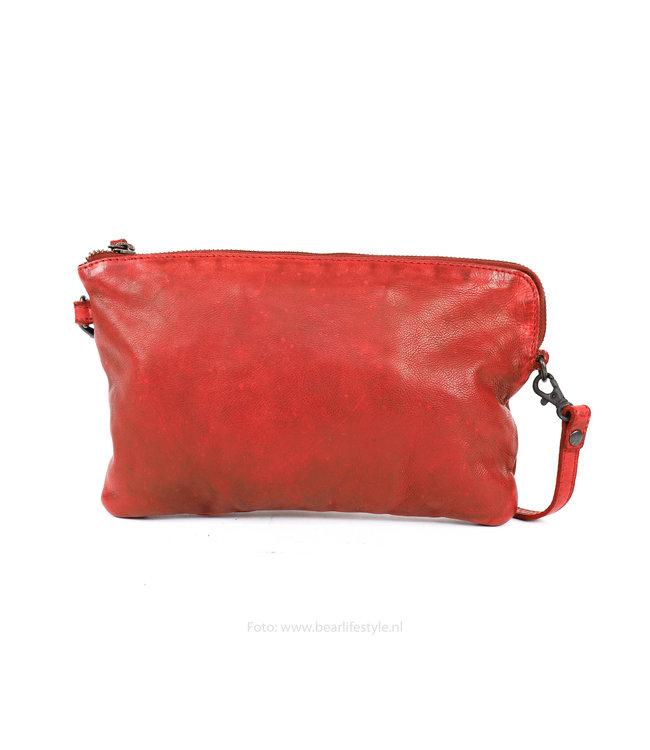 Bear Design Clutch / Umhängetasche 'Dori' - CL 36222 Rot