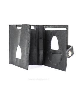 Bear Design Pasjeshouder met geldklem TU25 - Zwart