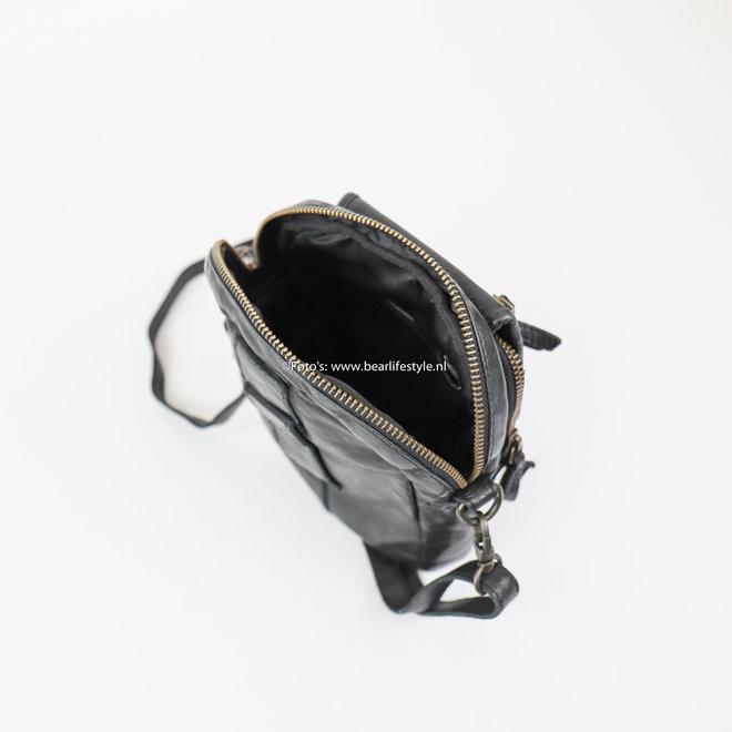 Schoudertasje 'Sem' - CL 36642 Zwart