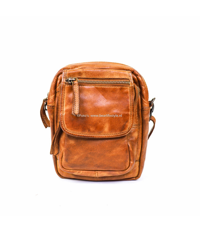 Bear Design Schoudertasje 'Sem' - CL 36642 Cognac