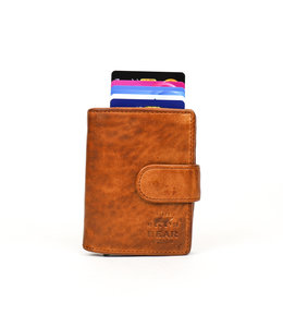 Bear Design Anti Skim wallet - CL 15689 Cognac