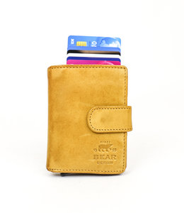 Bear Design Anti Skim wallet - CL 15689 Geel