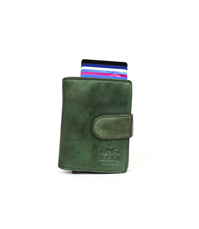 Bear Design Anti Skim wallet - CL 15689 Groen