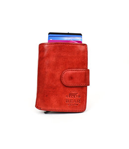 Bear Design Anti Skim wallet - CL 15689 Rood